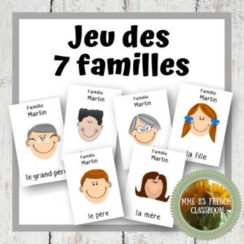 D'accord 1 Unité 3 (3A): Jeu des 7 familles to practice family vocabulary