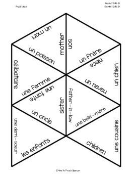 D'accord 1 Unité 3 (3A) Vocabulary puzzle: la famille