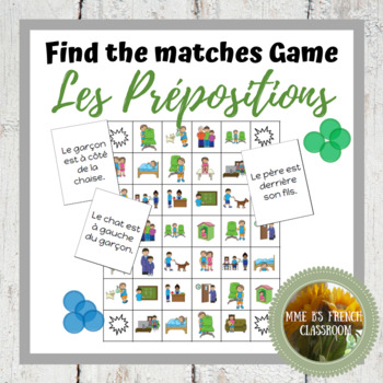 D'accord 1 Unité 3 (3B): Find the matches game with location prepositions
