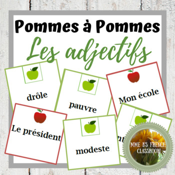 D'accord 1 Unité 3: Apples to Apples style game