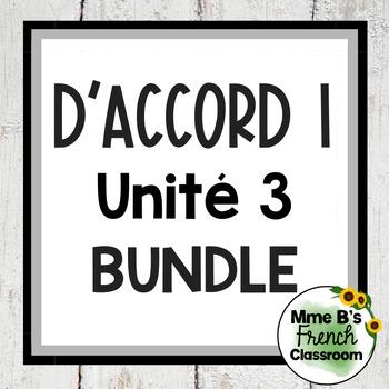 D'accord 1 Unité 3 Bundle