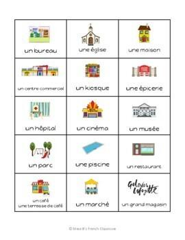 D'accord 1 Unité 4 (4A): Bingo: Où allons nous?  Les endroits