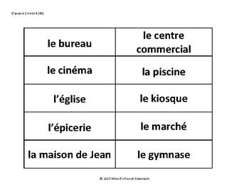D'accord 1 Unité 4 (4A): Où vas-tu? A whole class speaking game