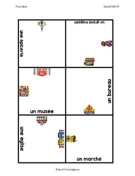 D'accord 1 Unité 4 (4A) Vocabulary puzzle: places
