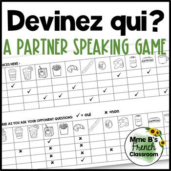 D'accord 1 Unité 4 (4B): Devinez qui?  A partner speaking activity