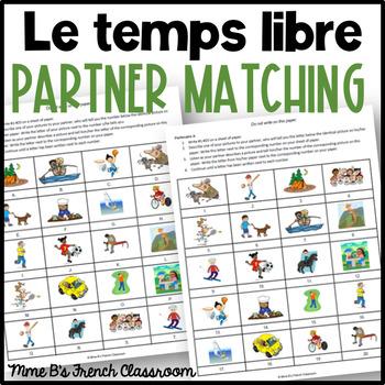 D'accord 1 Unité 5 (5A): Le temps libre partner matching game