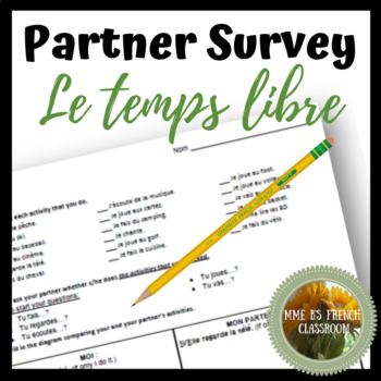 D'accord 1 Unité 5 (5A): Le temps libre partner survey