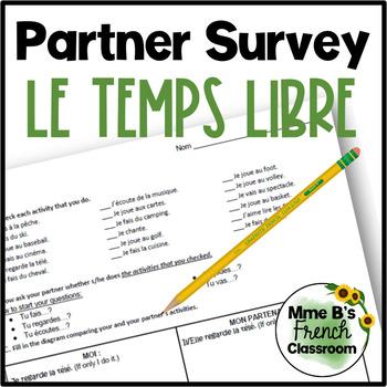 D'accord 1 Unité 5 (5A): Le temps libre partner survey