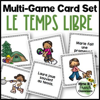 D'accord 1 Unité 5 (5A): Multi-game card set: Les loisirs/Le temps libre