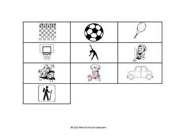 D'accord 1 Unité 5 (5A): Qui est-ce? A speaking game with activity vocabulary