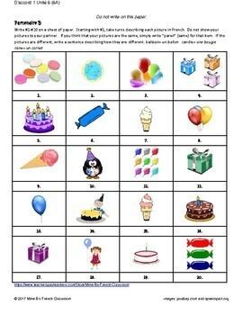 D'accord 1 Unité 6 (6A): Pareil ou Différent?  Same or different? Les fêtes
