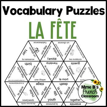 D'accord 1 Unité 6 (6A) Vocabulary puzzle: la fête