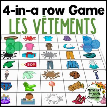 D'accord 1 Unité 6 (6B): 4-In-A-Row game Les vêtements et les couleurs