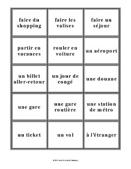 D'accord 1 Unité 7 (7A): Rolling words vocabulary game: Travel