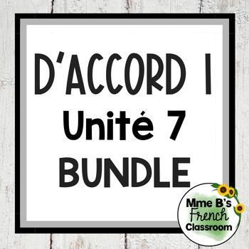 D'accord 1 Unité 7 Bundle