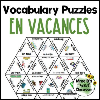 D'accord 1 Unité 7  Vocabulary puzzles: En vacances