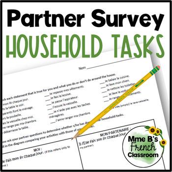 D'accord 1 Unité 8 (8B): Household Tasks partner survey