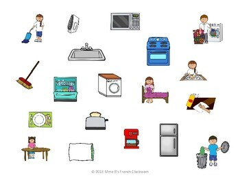 D'accord 1 Unité 8 (8B): Household task and appliance pictures