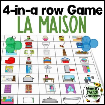 "D'accord 1 Unité 8: Connect 4-style game with vocabulary ""Chez nous"""