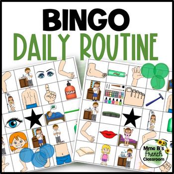 D'accord 2 2A: La routine quotidienne Bingo