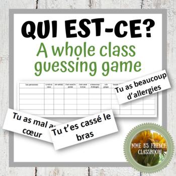 D'accord 2 Unité 2 (2B): A speaking game with health vocabulary/la santé
