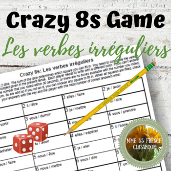 D'accord 2 Reprise: Crazy 8s Game for practicing irregular verbs