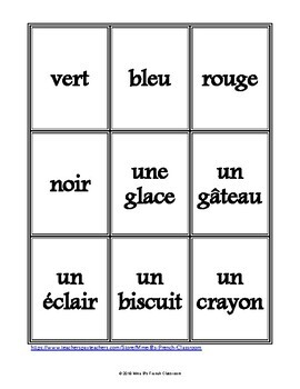 D'accord 2 Reprise: Spoons game/Les cuillères: vocabulary review