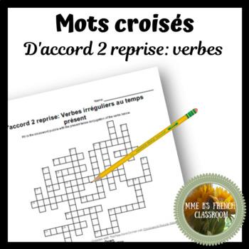 D'accord 2 Reprise: Verb review Crossword puzzle