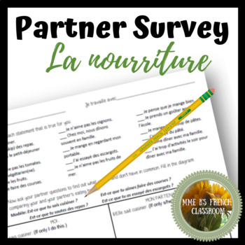 D'accord 2 Unité 1 (1A): La nourriture food partner survey