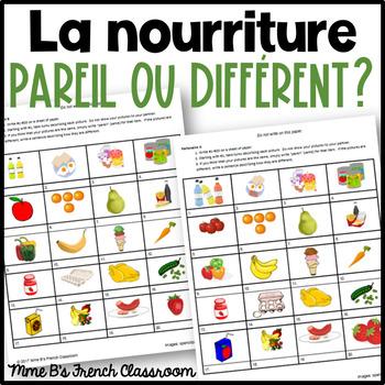 D'accord 2 Unité 1 (1A): Pareil ou Différent?  La nourriture