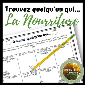 D'accord 2 Unité 1 (1A): Trouve quelqu'un qui with food vocabulary
