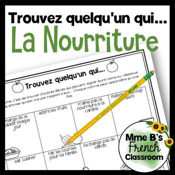 D'accord 2 Unité 1 (1A): Trouve quelqu'un qui with food vocabulary
