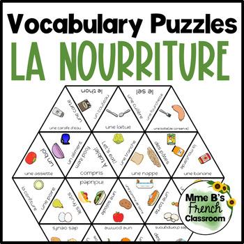 D'accord 2 Unité 1 (1A) Vocabulary puzzle: la nourriture