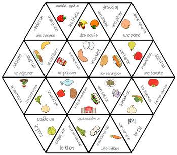 D'accord 2 Unité 1 Vocabulary puzzle: la nourriture