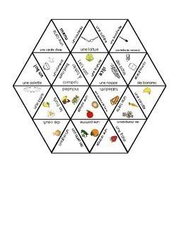 D'accord 2 Unité 1 Vocabulary puzzles: la nourriture
