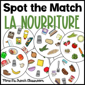 D'accord 2 Unité 1: Spot the match game La nourriture