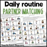 D'accord 2 Unité 2 (2A): La routine quotidienne partner matching activity