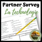 D'accord 2 Unité 3 (3A): La technologie partner survey