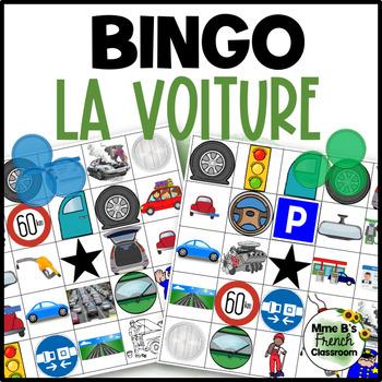 D'accord 2 Unité 3 (3B): La voiture/Car Bingo