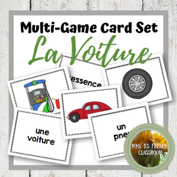 D'accord 2 Unité 3 (3B): Multi-game card set: En voiture!