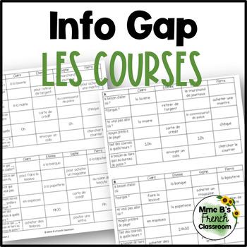 D'accord 2 Unité 4 (4A) Info Gap: Les courses