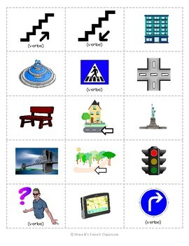 D'accord 2 Unité 4 (4A and 4B): Multi-game card set: En ville