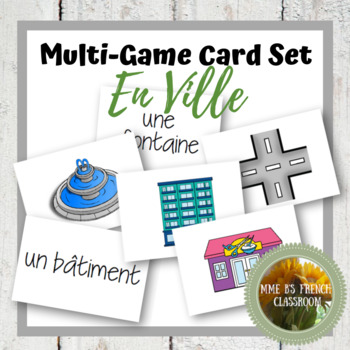 D'accord 2 Unité 4 (4A and 4B): Multi-game card set: En ville