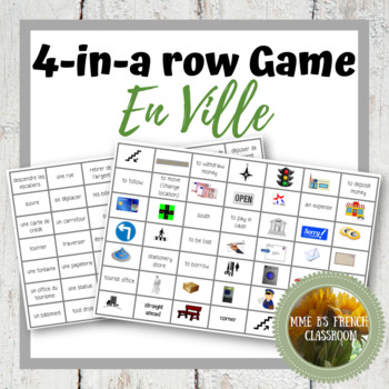 D'accord 2 Unité 4: Connect 4-style game with vocabulary