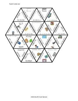 D'accord 2 Unité 4A Vocabulary Puzzle: Les courses