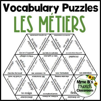 D'accord 2 Unité 5 Vocabulary Puzzle: L'avenir et les métiers