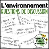 D'accord 2 Unité 6 (6A)  Questions de Discussion: Environnement