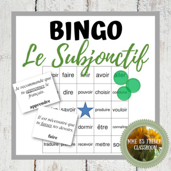 D'accord 2 Unité 7: Bingo: le subjonctif/the subjunctive