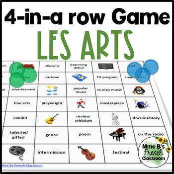 D'accord 2 Unité 7: 4-in-a-row game: Les arts