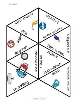 D'accord 2 Unité 3 (3B)  Vocabulary Puzzle: En voiture!